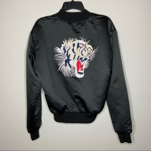 Urban Outfitters Jackets & Blazers - Urban Outfitters Size Large Black Tiger Bomber